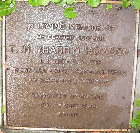 Harry Howson Plaque