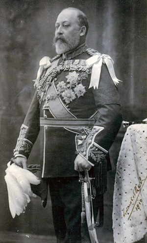Photo of Edward VII with decorations