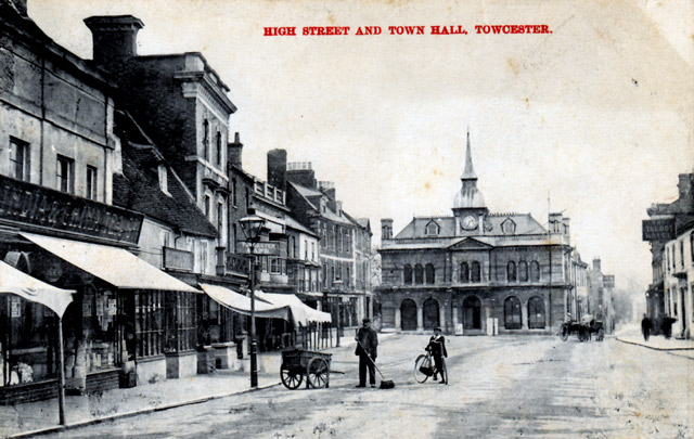 View of Town Hall in Watling Street Towcester